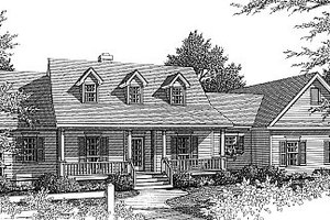 Country Exterior - Front Elevation Plan #14-112