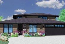 Prairie Exterior - Front Elevation Plan #509-63
