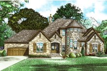 Architectural House Design - European Exterior - Front Elevation Plan #17-2573