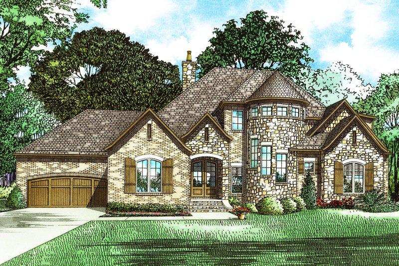 Dream House Plan - European Exterior - Front Elevation Plan #17-2573