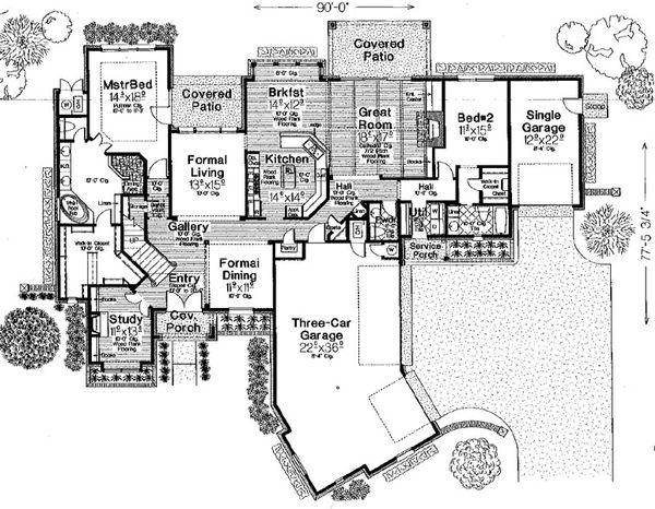European Floor Plan - Main Floor Plan #310-340