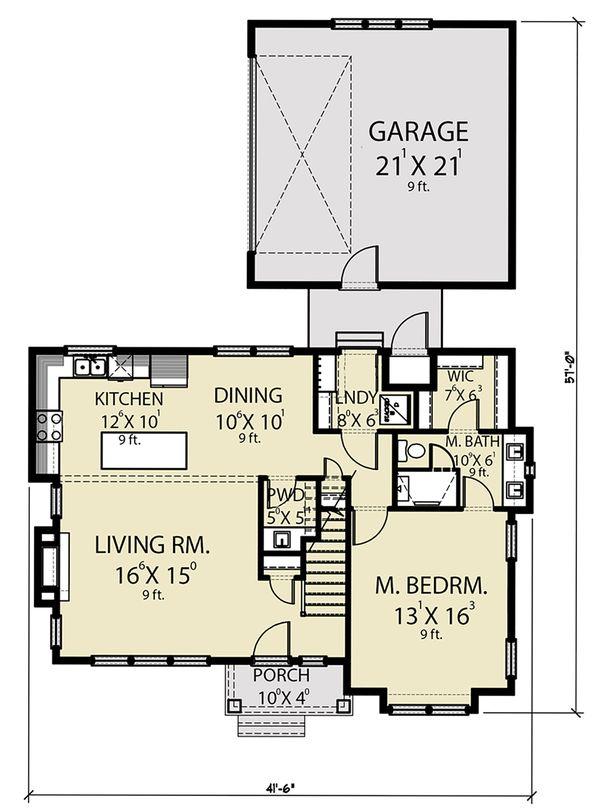 Dream House Plan - Farmhouse Floor Plan - Main Floor Plan #1070-40