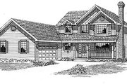 Traditional Style House Plan - 4 Beds 2.5 Baths 2086 Sq/Ft Plan #47-271 Exterior - Front Elevation