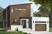 Modern Style House Plan - 4 Beds 2.5 Baths 1999 Sq/Ft Plan #23-2700 Exterior - Front Elevation