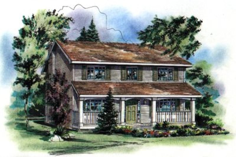 House Blueprint - Traditional Exterior - Front Elevation Plan #18-279