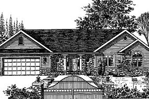 Traditional Exterior - Front Elevation Plan #12-101