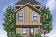Craftsman Style House Plan - 2 Beds 2 Baths 1203 Sq/Ft Plan #48-569 Exterior - Rear Elevation