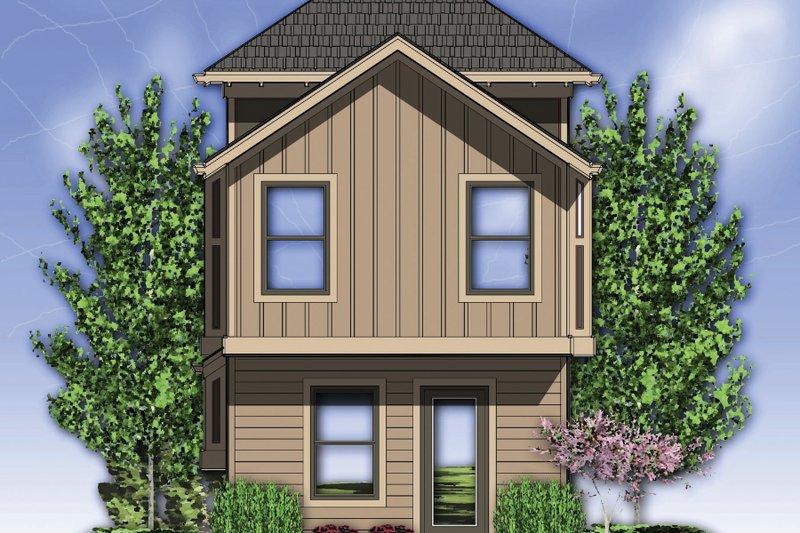 Craftsman Exterior - Rear Elevation Plan #48-569 - Houseplans.com