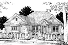 Architectural House Design - Traditional Exterior - Front Elevation Plan #20-361