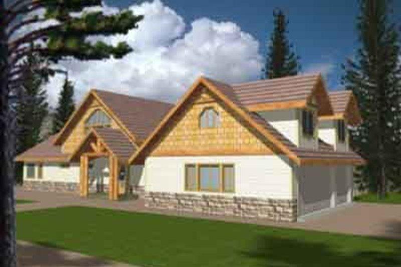 Home Plan - European Exterior - Front Elevation Plan #117-181