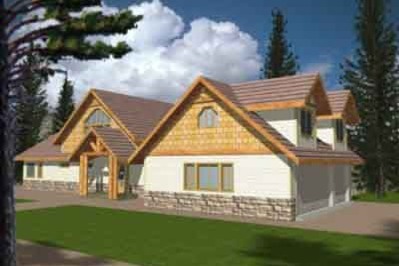 Dream House Plan - European Exterior - Front Elevation Plan #117-181