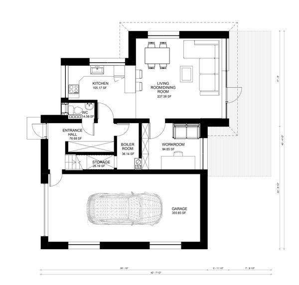 Contemporary Floor Plan - Main Floor Plan Plan #906-8