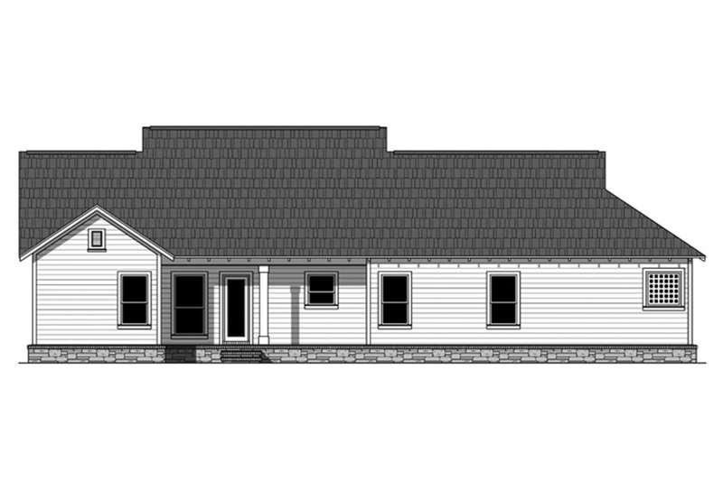 Ranch Exterior - Rear Elevation Plan #21-428 - Houseplans.com