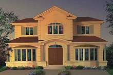 Mediterranean Exterior - Front Elevation Plan #23-630