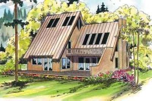 House Design - Contemporary Exterior - Front Elevation Plan #124-405