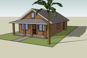 Cottage Style House Plan - 3 Beds 2 Baths 1200 Sq/Ft Plan #423-49 Exterior - Other Elevation