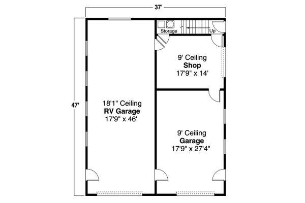 Traditional Floor Plan - Main Floor Plan #124-1197