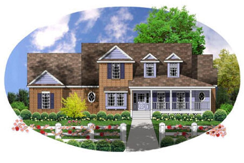 Country Exterior - Front Elevation Plan #40-135 - Houseplans.com