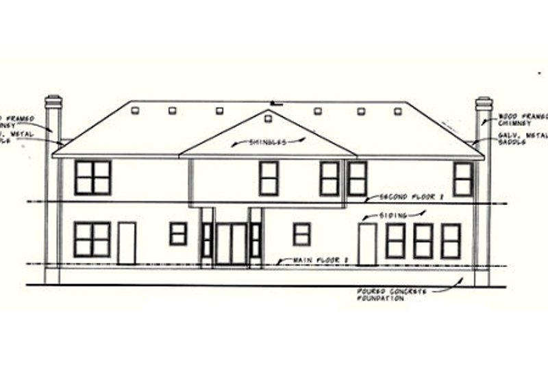 Traditional Exterior - Rear Elevation Plan #20-402