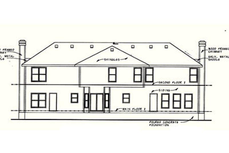 Traditional Exterior - Rear Elevation Plan #20-402 - Houseplans.com