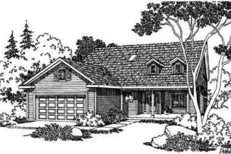 Country Exterior - Front Elevation Plan #124-343
