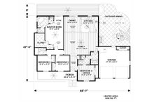 Craftsman Floor Plan - Main Floor Plan Plan #56-706