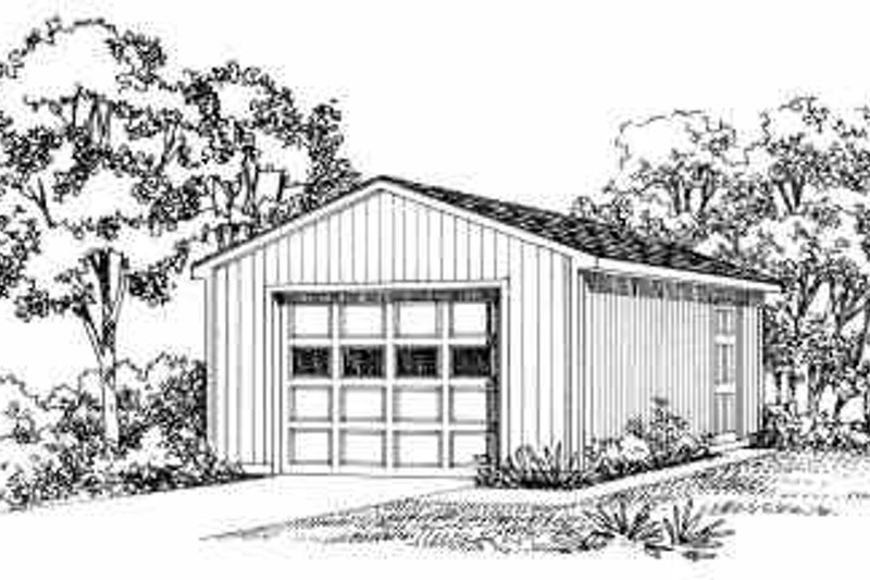 House Blueprint - Traditional Exterior - Front Elevation Plan #72-244