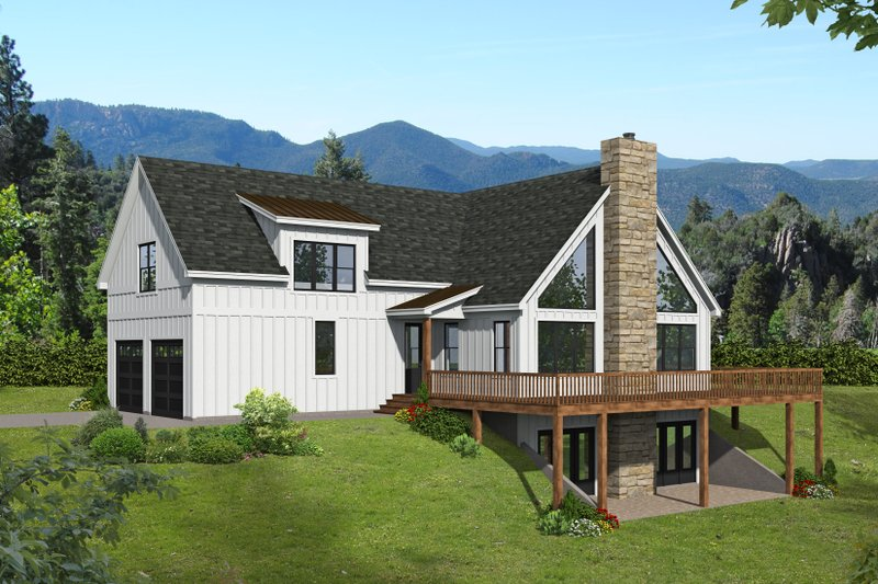 House Blueprint - Traditional Exterior - Front Elevation Plan #932-426