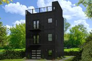 Contemporary Style House Plan - 2 Beds 2.5 Baths 1384 Sq/Ft Plan #932-127 Exterior - Front Elevation