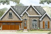 European Style House Plan - 3 Beds 2 Baths 1458 Sq/Ft Plan #424-177 Exterior - Front Elevation