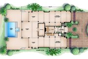 Beach Style House Plan - 4 Beds 4.5 Baths 13562 Sq/Ft Plan #27-488 Floor Plan - Lower Floor