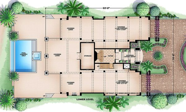 Beach Floor Plan - Lower Floor Plan #27-488