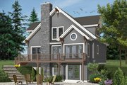 European Style House Plan - 3 Beds 2 Baths 2021 Sq/Ft Plan #23-2513 Exterior - Front Elevation