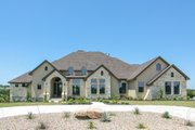 European Style House Plan - 4 Beds 4 Baths 4050 Sq/Ft Plan #80-160 Exterior - Front Elevation