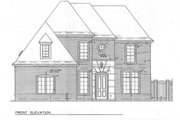 European Style House Plan - 3 Beds 3.5 Baths 3254 Sq/Ft Plan #141-104 Exterior - Other Elevation