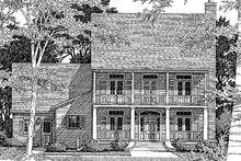 Home Plan Design - Southern Exterior - Front Elevation Plan #41-158