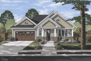 Craftsman Exterior - Front Elevation Plan #46-896