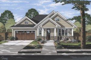 Craftsman Exterior - Front Elevation Plan #46-896
