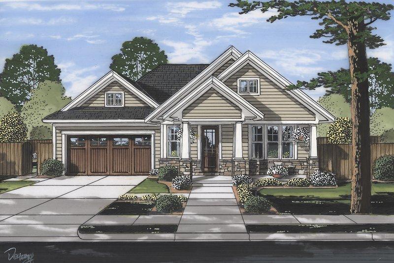 House Plan Design - Craftsman Exterior - Front Elevation Plan #46-896