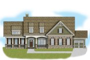 Country Style House Plan - 5 Beds 4 Baths 4061 Sq/Ft Plan #419-306 Exterior - Front Elevation
