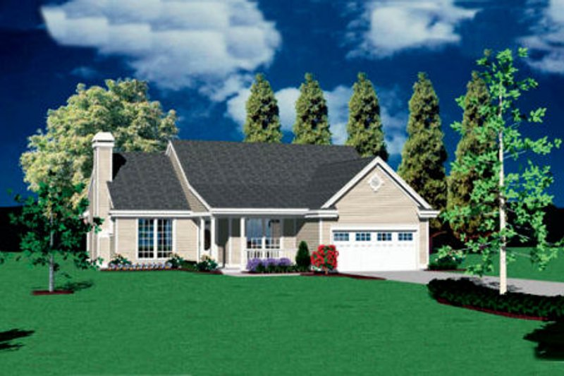 Traditional Exterior - Front Elevation Plan #48-121