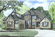 European Style House Plan - 4 Beds 3.5 Baths 3083 Sq/Ft Plan #17-2499 Exterior - Other Elevation