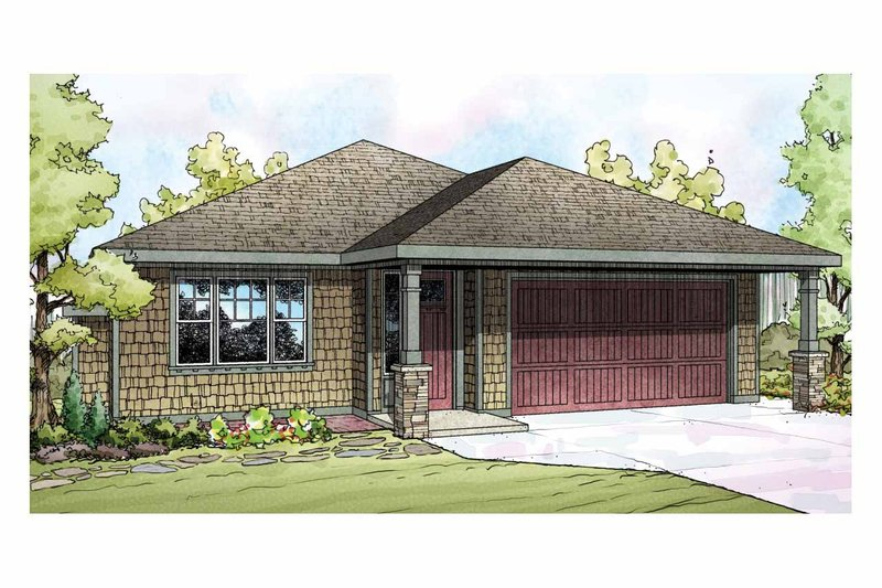 Home Plan Design - Traditional Exterior - Front Elevation Plan #124-912