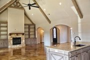 European Style House Plan - 4 Beds 3.5 Baths 3083 Sq/Ft Plan #17-2499 Interior - Family Room