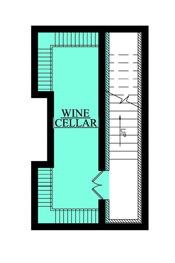 European Floor Plan - Lower Floor Plan Plan #430-111