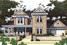 Home Plan - Farmhouse Exterior - Front Elevation Plan #120-122