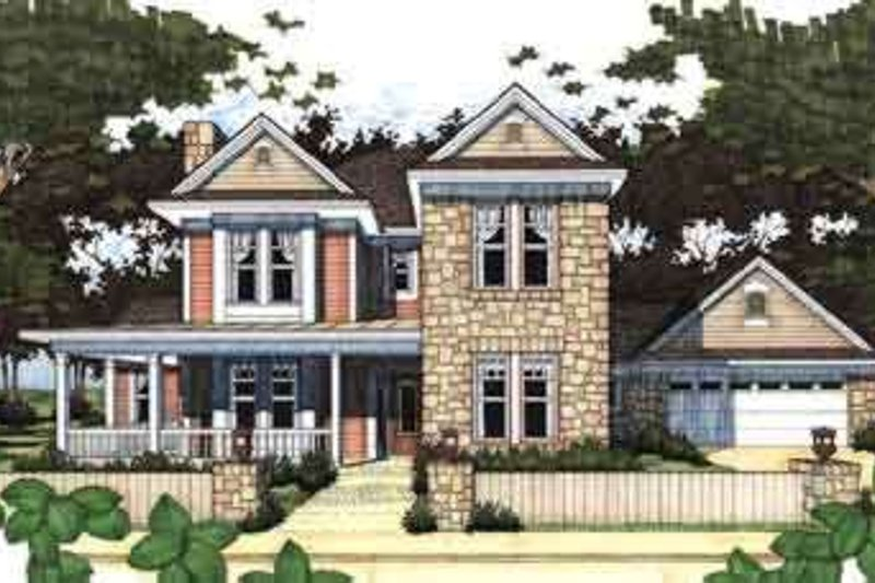 Farmhouse Exterior - Front Elevation Plan #120-122