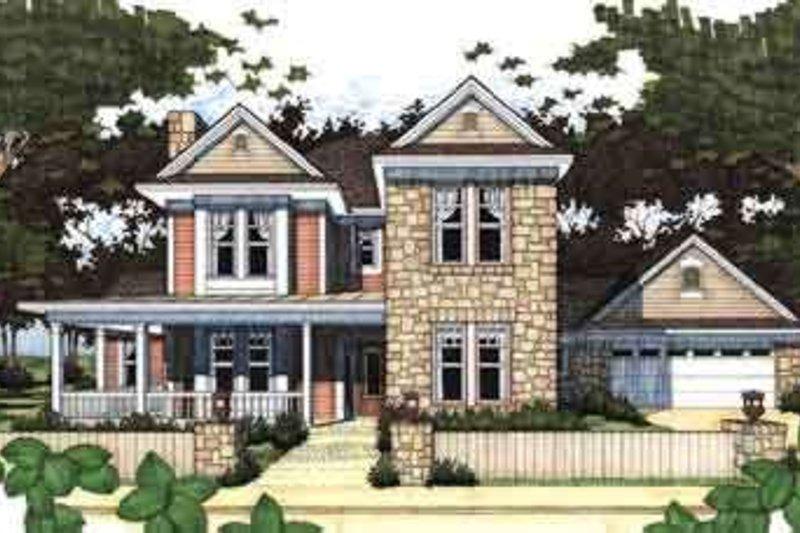 Dream House Plan - Farmhouse Exterior - Front Elevation Plan #120-122