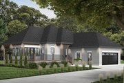 European Style House Plan - 2 Beds 2 Baths 1146 Sq/Ft Plan #23-2489