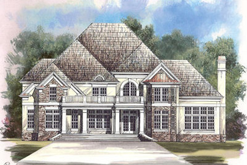 European Exterior - Front Elevation Plan #119-247